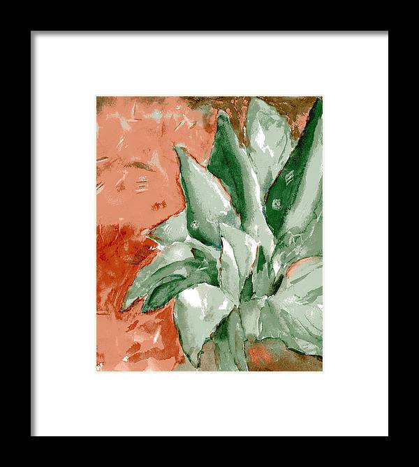 Cactus Framed Print featuring the painting Indian Signs by Marilyn Barton