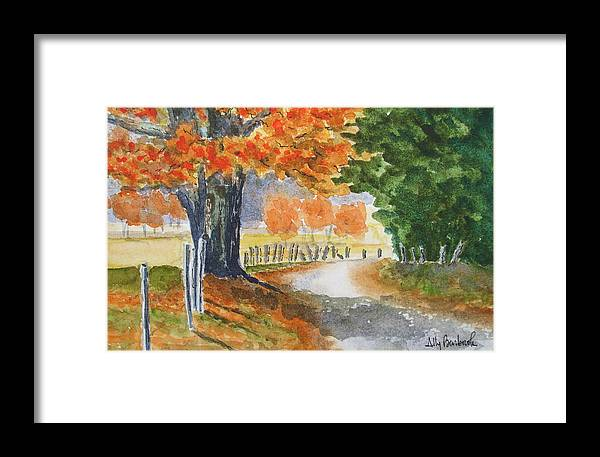 Autumn Framed Print featuring the painting Indian Summer by Ally Benbrook