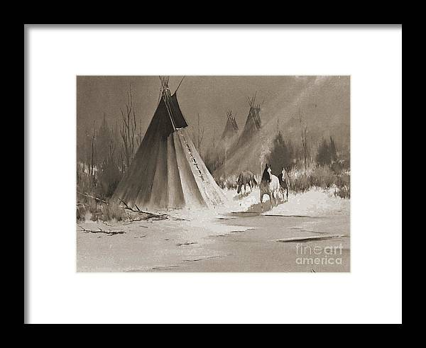 American Framed Print featuring the photograph Indian Tee Pee by Gary Wonning