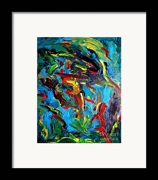 Acrylic Framed Print featuring the painting Indian Woman And Her Heavy Burdens by Karen L Christophersen