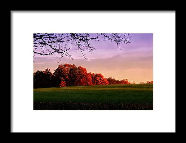 Landscape Framed Print featuring the photograph Indiana Sunset by Diane Merkle