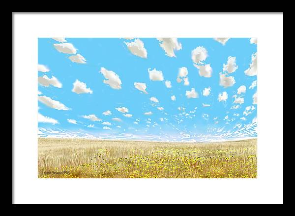 Indianola Framed Print featuring the digital art Indianola by Kerry Beverly