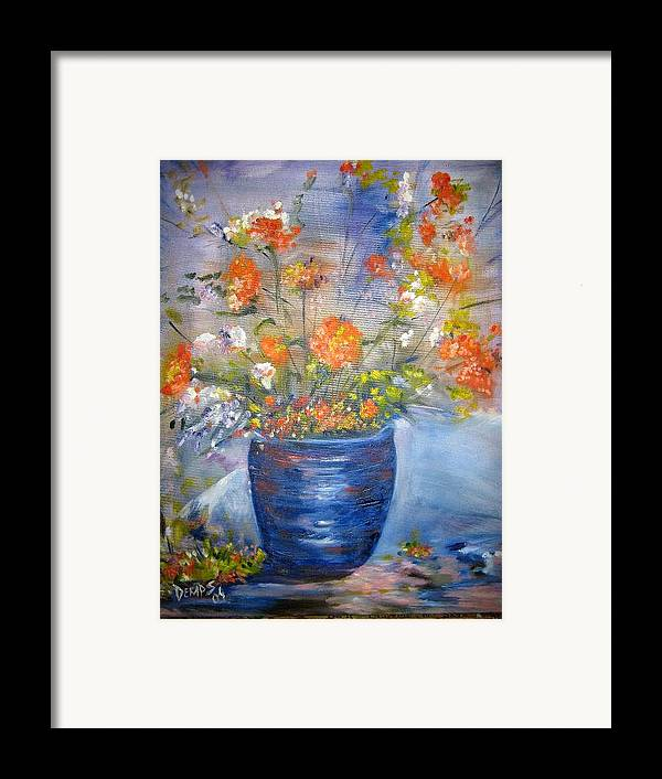 Still Life Framed Print featuring the painting Indigo by Impressionist FineArtist Tucker Demps Collection