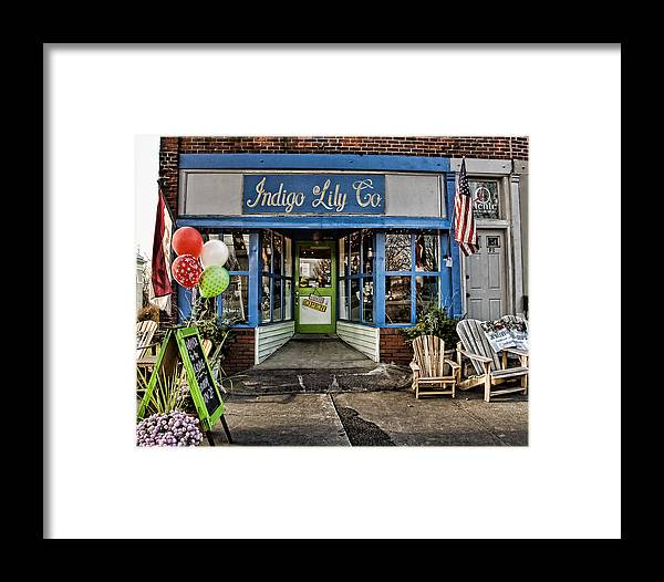 Shop Framed Print featuring the photograph Indigo Lily by Edward Sobuta