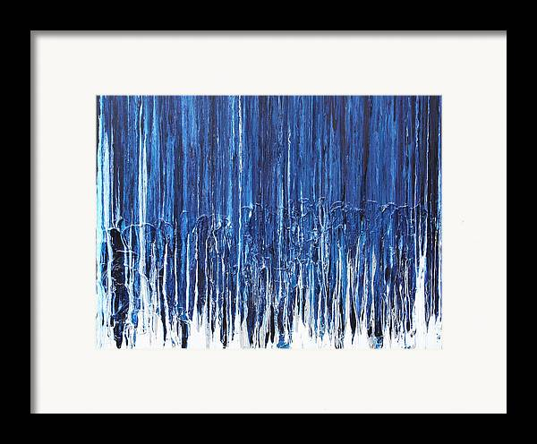 Fusionart Framed Print featuring the painting Indigo Soul by Ralph White