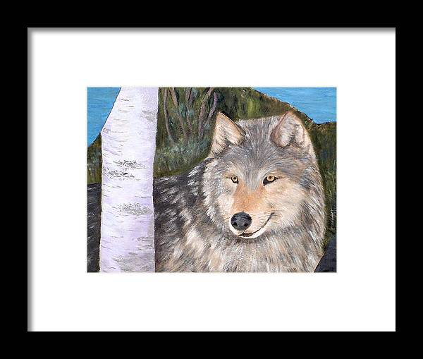 Wildlife Framed Print featuring the painting Indomitable Spirit II by Merle Blair