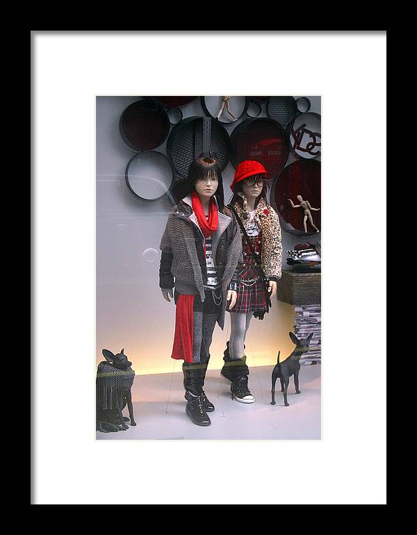 Jez C Self Framed Print featuring the photograph Indoor Walking by Jez C Self