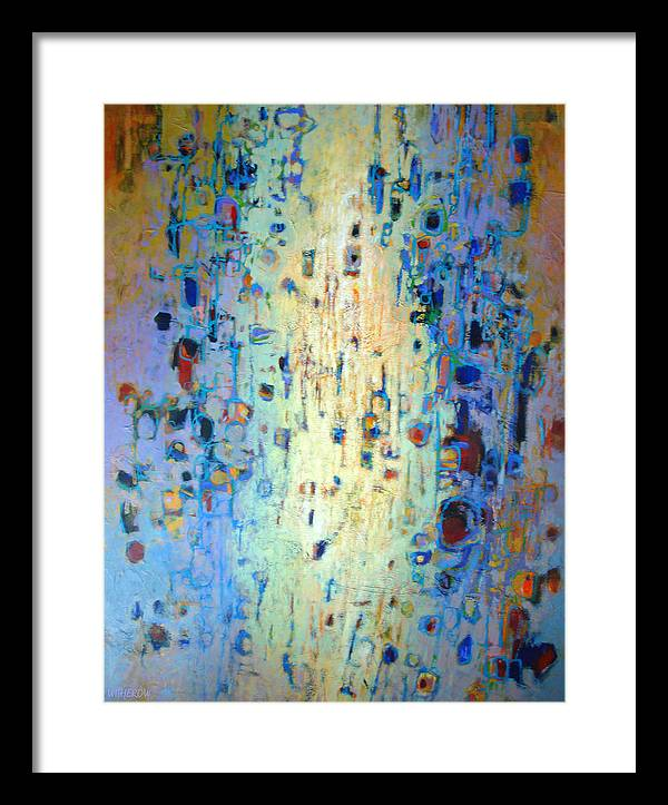 Abstract Framed Print featuring the painting Indulgence by Dale Witherow