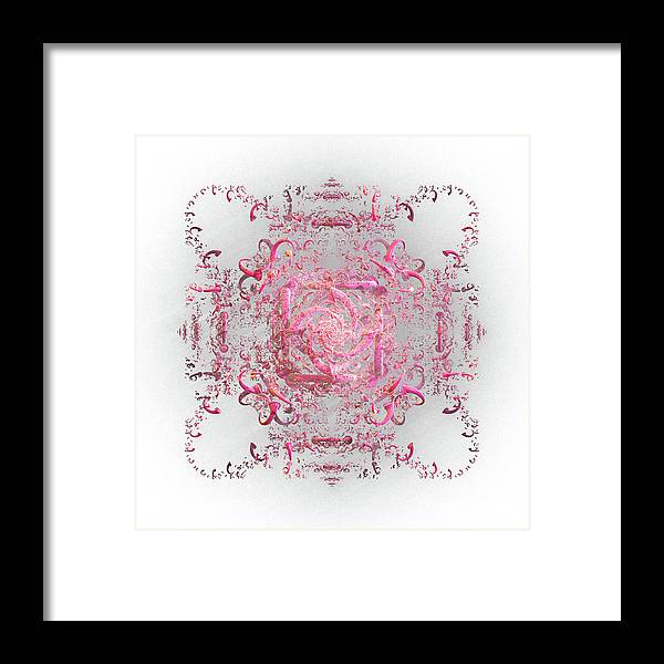 Lace Framed Print featuring the digital art Indulgent Pink Lace by Rosalie Scanlon