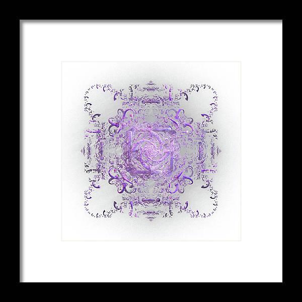 Lace Framed Print featuring the digital art Indulgent Purple Lace by Rosalie Scanlon