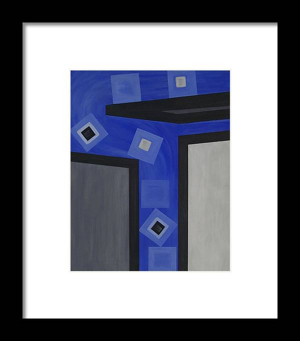 Corporate Framed Print featuring the painting Industry 1 Blue Collar by Sandy Bostelman