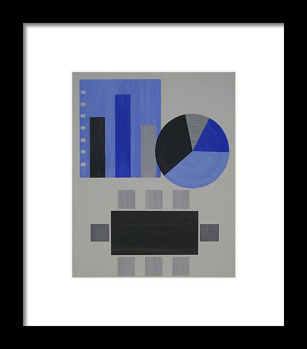 Corporate Framed Print featuring the painting Industry 2 White Collar by Sandy Bostelman