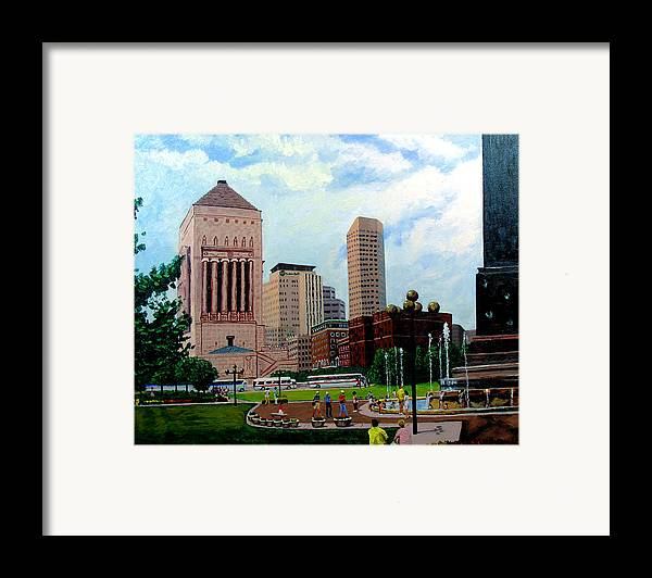 Indianapolis Framed Print featuring the painting Indy Festival by Stan Hamilton