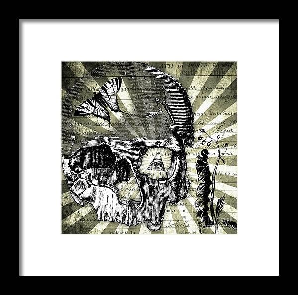 Being Framed Print featuring the digital art Inevitable by Ramneek Narang