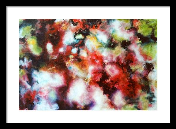 Abstract Framed Print featuring the painting Infectious by Selma Sulaiman