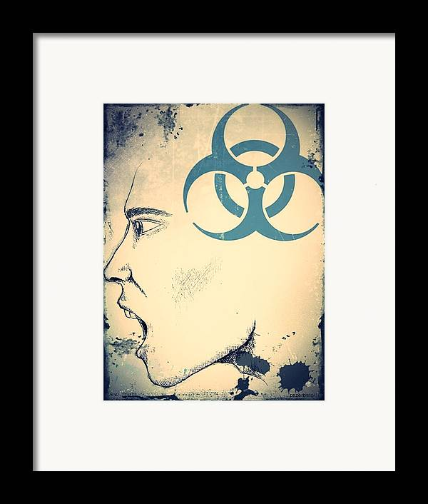 Infectious Substance Framed Print featuring the digital art Infectious Substance by Paulo Zerbato