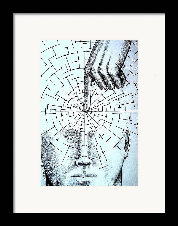 Objectivity Framed Print featuring the digital art Infer About The Reality by Paulo Zerbato
