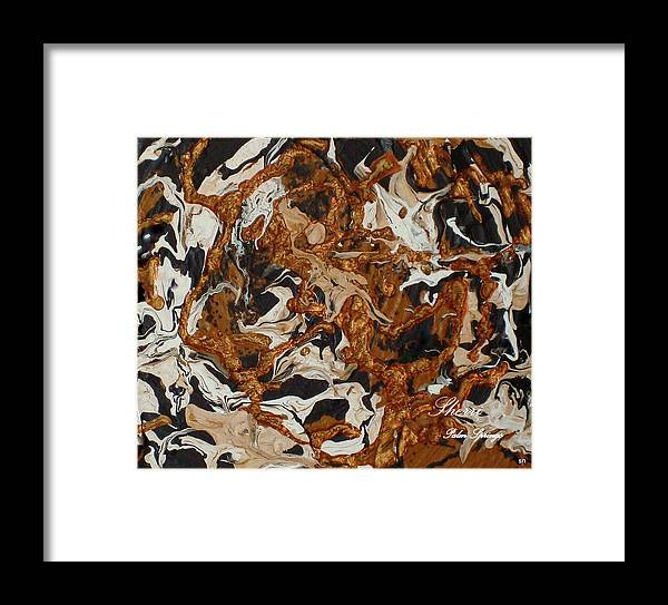 Abstract Framed Print featuring the painting Inferno Of The Mind by Sherri's - Of Palm Springs