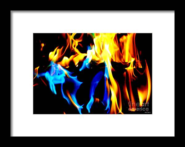 Abstract Framed Print featuring the photograph Inferno Xv by Christine S Zipps