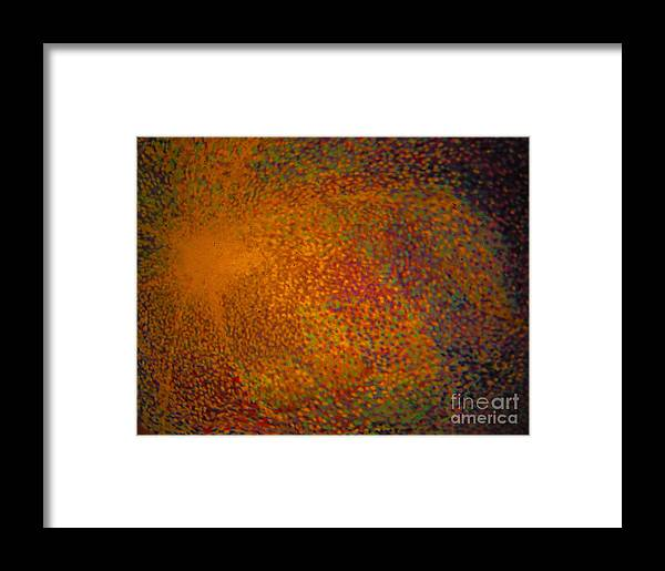 Pointillism Framed Print featuring the painting Infinite Field Of Possibilities by Jeff Birr