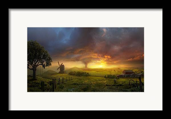 Landscape Framed Print featuring the painting Infinite Oz by Philip Straub