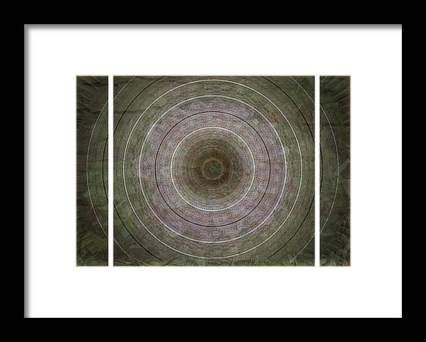 Mandala Framed Print featuring the photograph Infinite Peace And Harmony Triptych by Carol Everhart Roper