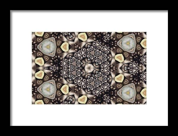 Kaleidoscope Framed Print featuring the mixed media Infinite Torus by Laurie's Intuitive