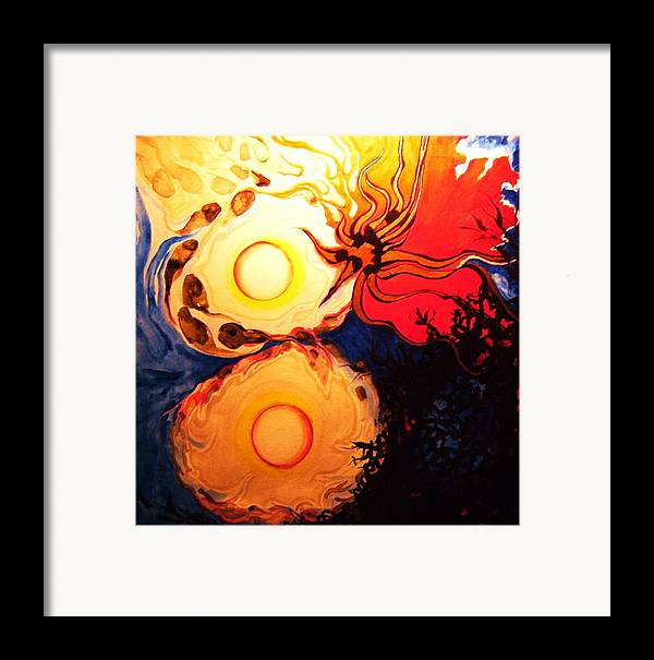 Abstract Framed Print featuring the painting Infinitely 8 by Meshal Hardie