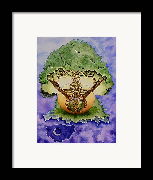 Tree Of Life Framed Print featuring the painting Infinitree by Joyce Hutchinson