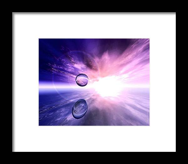 Sphere Framed Print featuring the painting Infinity by Dreamlight Creations