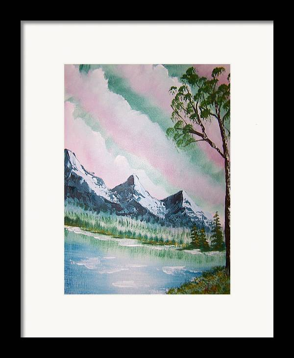 Lake Framed Print featuring the painting Infinity by Laurie Kidd
