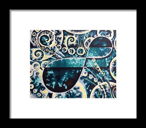Infinity Framed Print featuring the painting Infinity by Michell Rosenthal