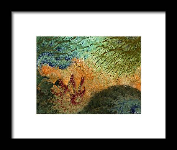 Abstract Framed Print featuring the digital art Inflammation by Casey Kotas