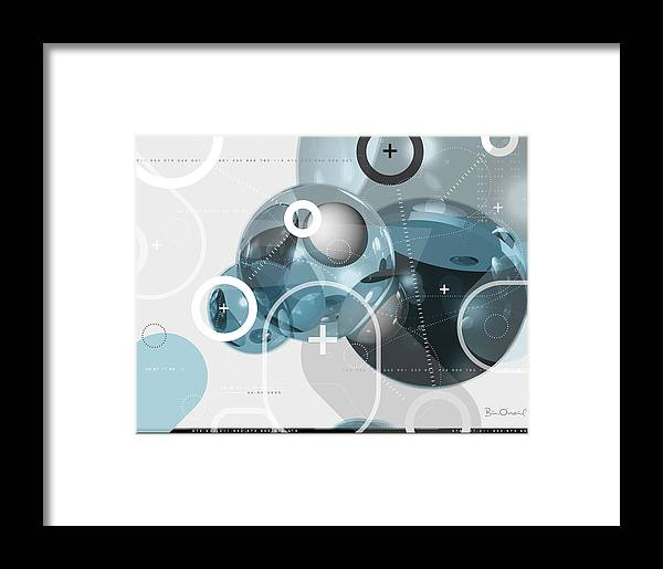 3d Framed Print featuring the print Information Molecule - Abstract by Bill ONeil
