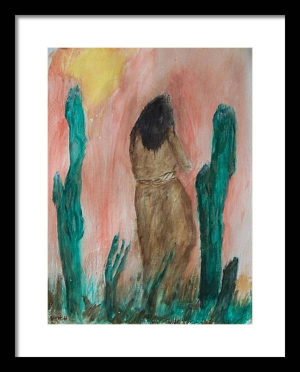 Contemporary Framed Print featuring the painting Infraccion by Larry Verch