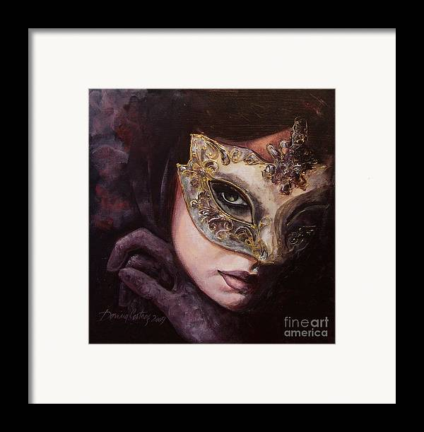 Art Framed Print featuring the painting Ingredient Of Mystery by Dorina Costras