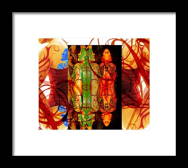 Absttract Framed Print featuring the photograph Ink Sisters 12 by Erika Brown