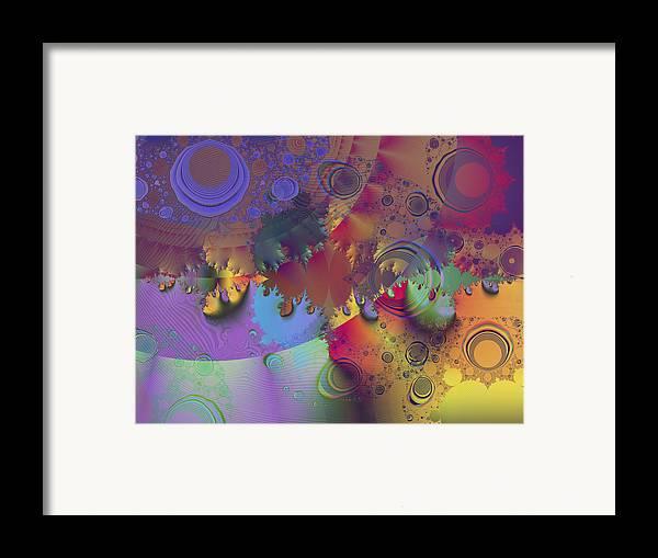 Fractal Framed Print featuring the digital art Ink's Spots by Elisa Locci