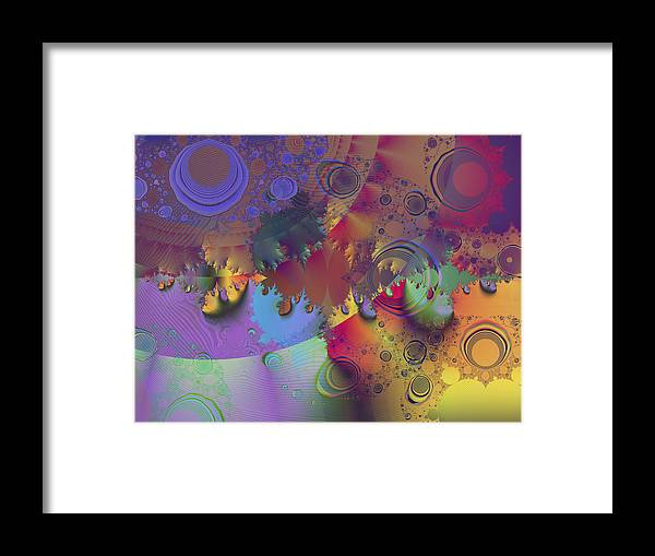 Fractal Framed Print featuring the digital art Ink's Spots by Elisa Locci