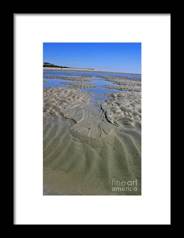 Sand Framed Print featuring the photograph Inlet Tidal Pool by Beebe Barksdale-Bruner