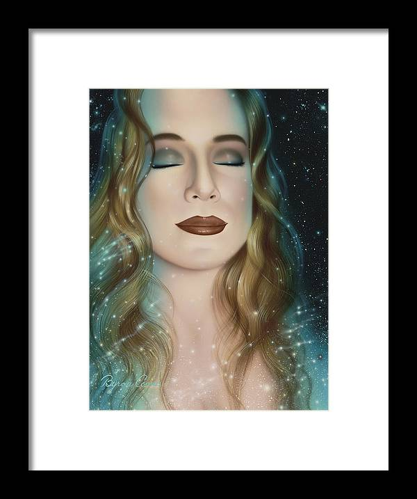 Portrait Framed Print featuring the painting Inner Beauty Of Outer Space by Brigit Byron Coons