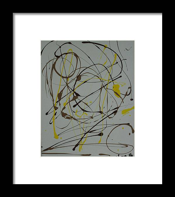 Spiritual Framed Print featuring the painting Inner G by Sonye Locksmith