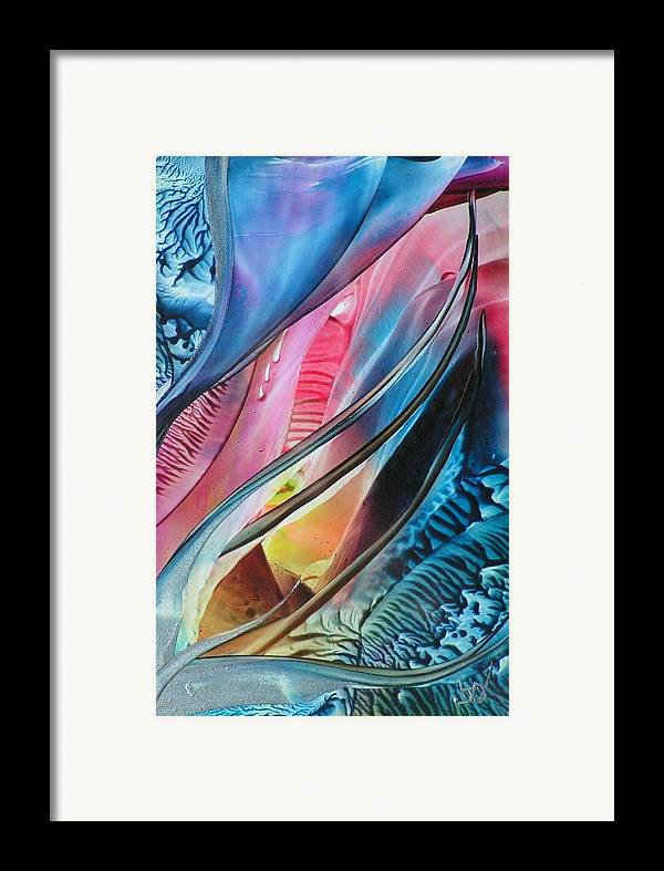 Flow Of Wax Framed Print featuring the painting Inner Glow by John Vandebrooke
