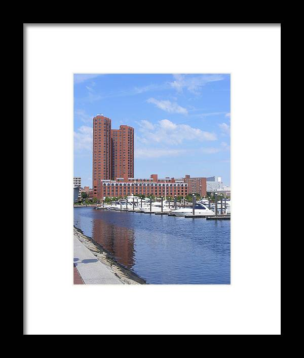 Baltimore Framed Print featuring the photograph Inner Harbor by James and Vickie Rankin
