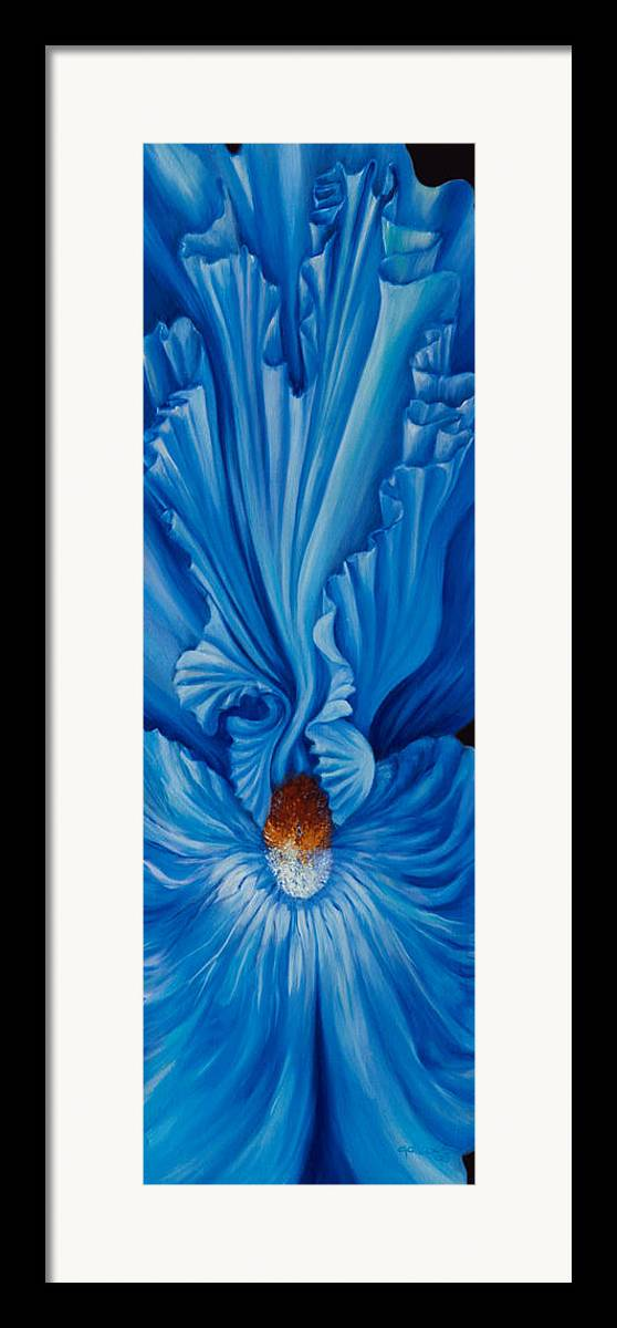 Flowers Framed Print featuring the painting Inner Lilly by Elsa Gallegos