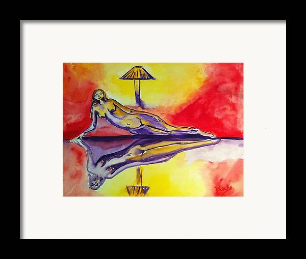 Woman Framed Print featuring the painting Inner Reflections by Donna Blackhall