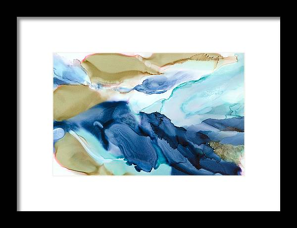 Abstract Framed Print featuring the painting Inner Worlds - A - by Sandy Sandy