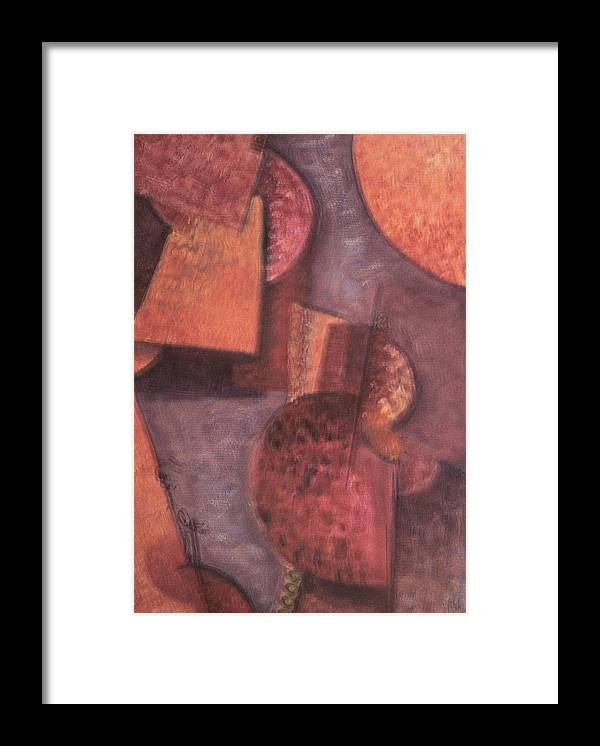 Abstract Framed Print featuring the painting Innner Self by Kevin Stevens
