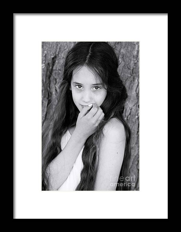 Portrait Photography Framed Print featuring the photograph Innocence by Andrea Lobel