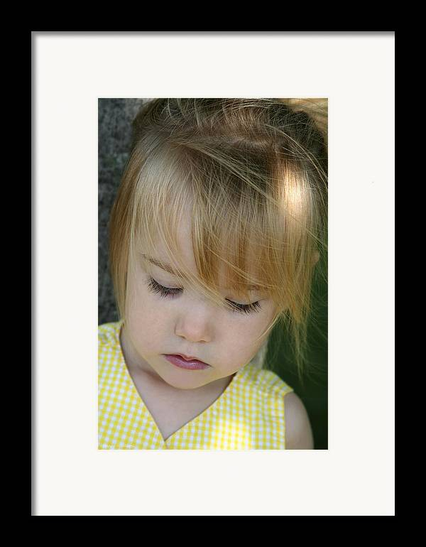 Angelic Framed Print featuring the photograph Innocence II by Margie Wildblood